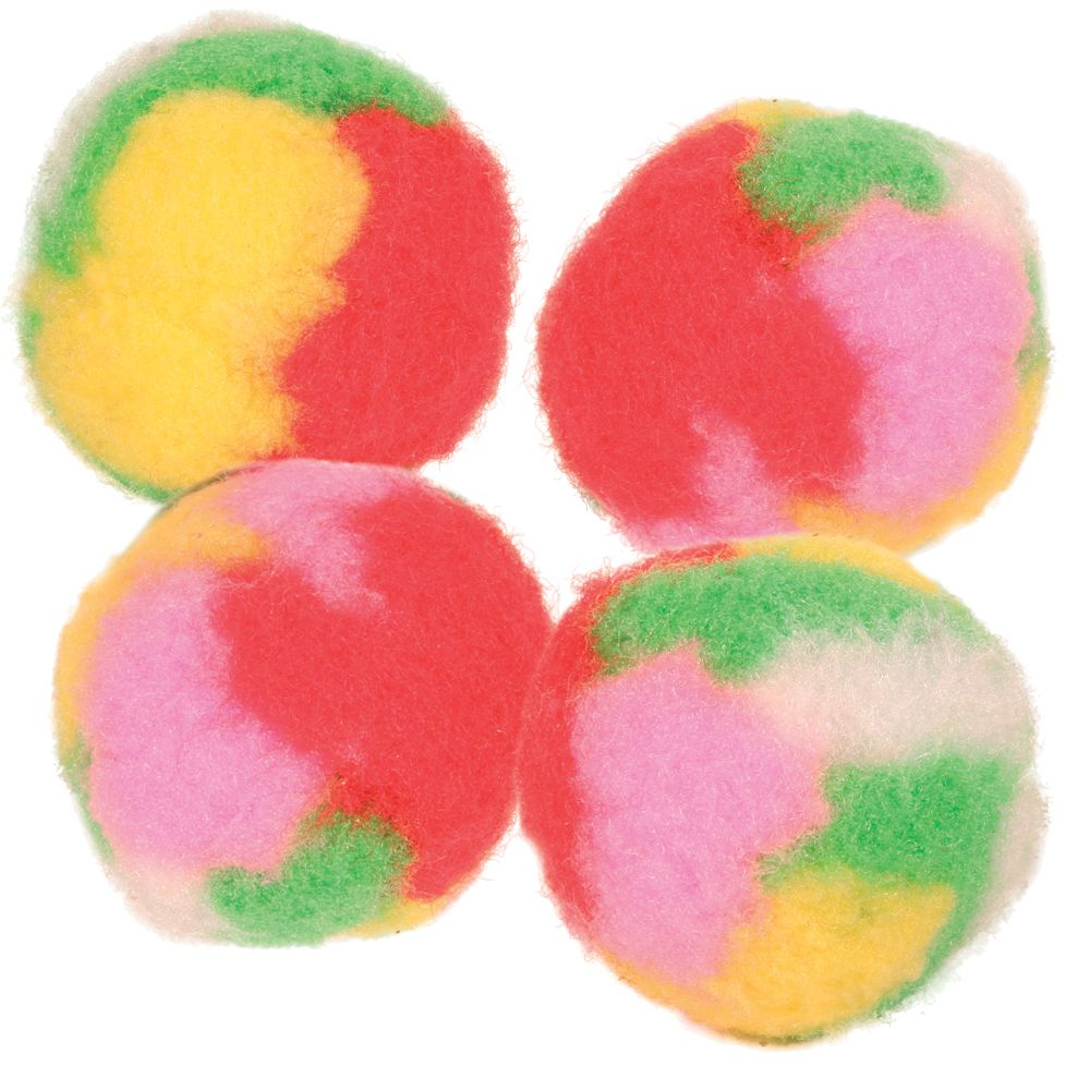 Trixie Katzenspielzeug Pompon-Bälle - 4 Stück