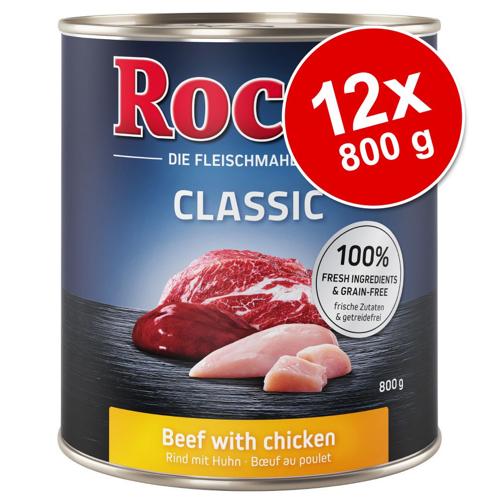 Rocco Classic 12 x 800 g hundfoder - Nötkött & lamm