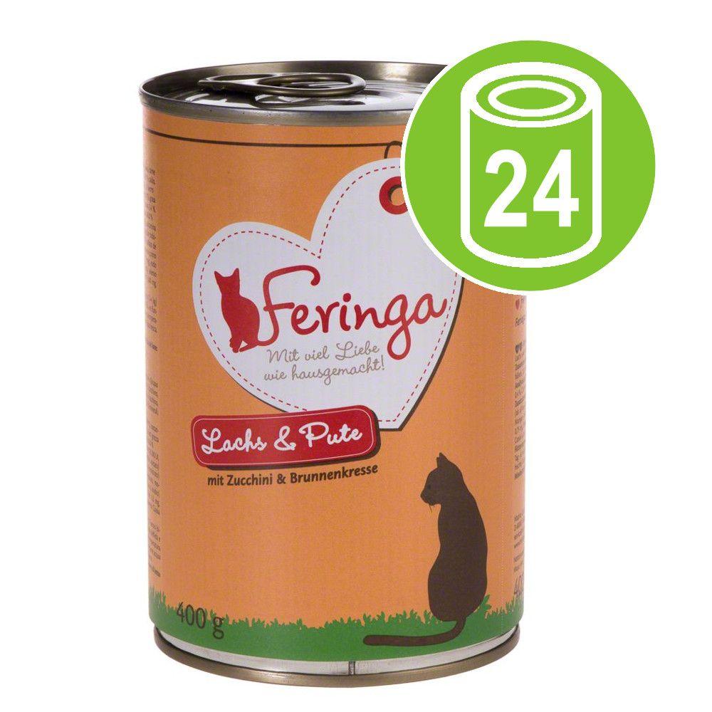Ekonomipack: Feringa Menu Duo 24 x 400 g - Lax & kalkon med zucchini & krasse