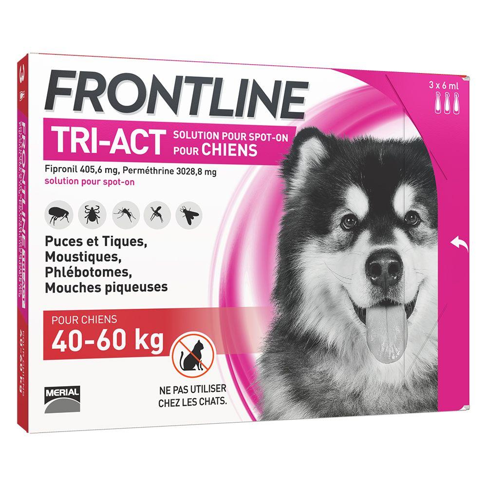 FRONTLINE TRI-ACT Chien, 40 - 60 kg - 6 mois de protection (6 pipettes)