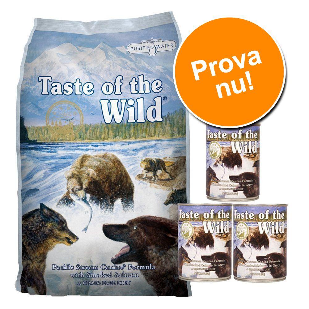 Provpack: 6 kg + 3 x 390 g Taste of the Wild Sierra Mountain