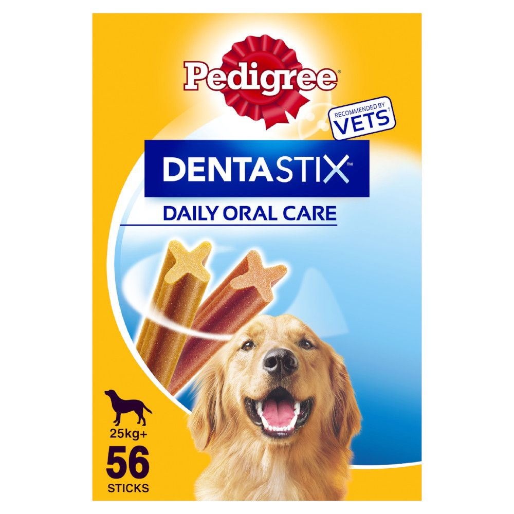 Pedigree Dentastix Bundle Pack 56x Large & 28x Fresh Dog Treats