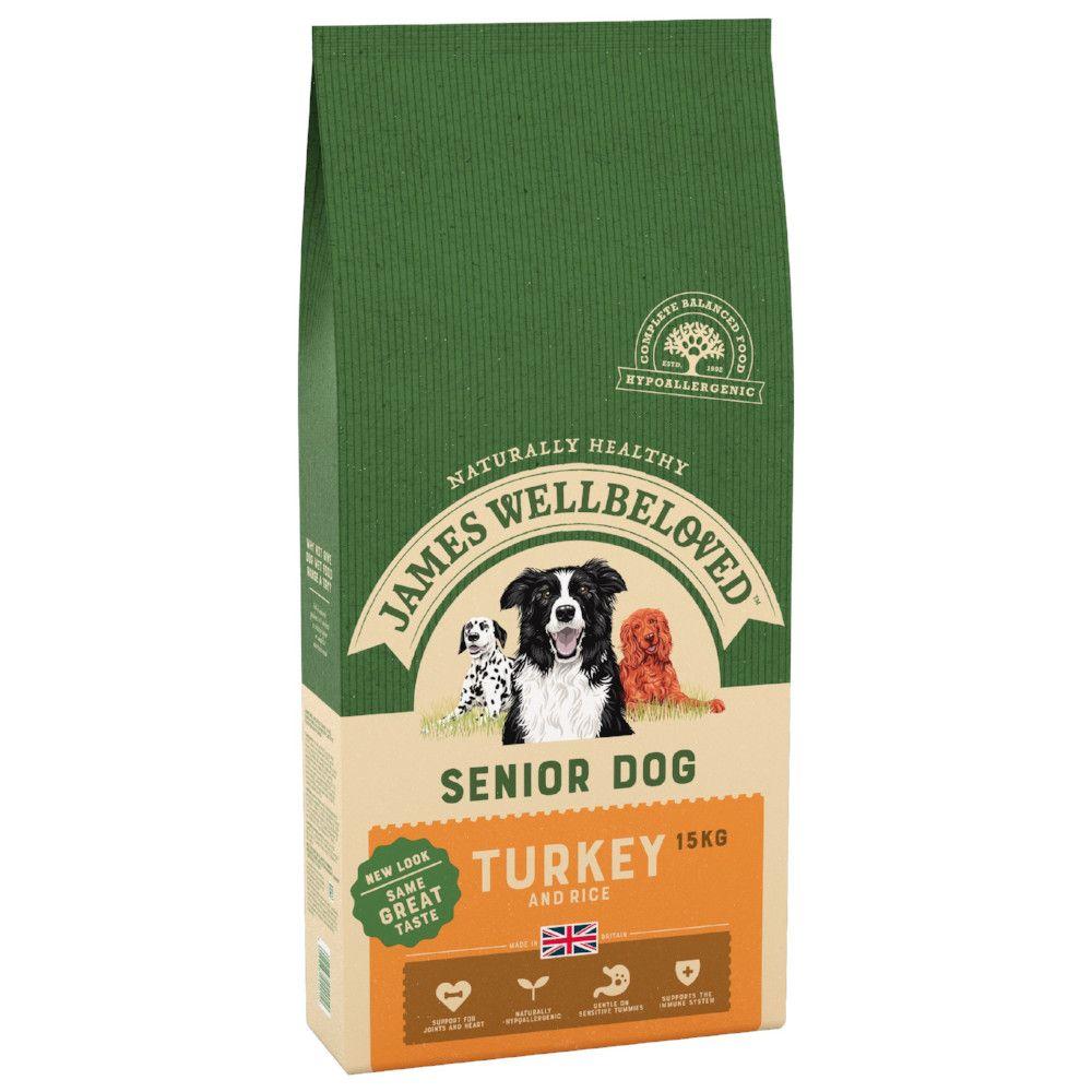 15kg Senior Turkey & Rice James Wellbeloved Dry Dog Food