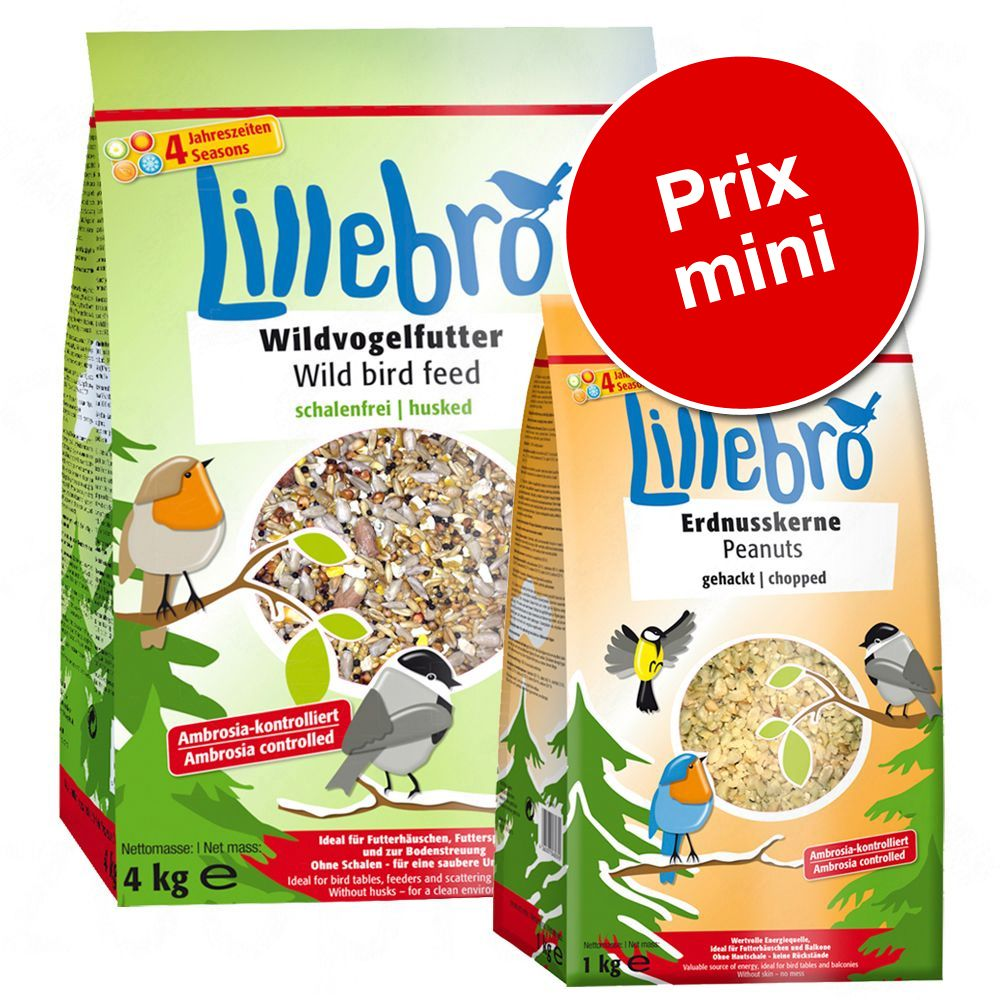Lillebro nourriture sans déchets + graines d'arachide pour oiseau