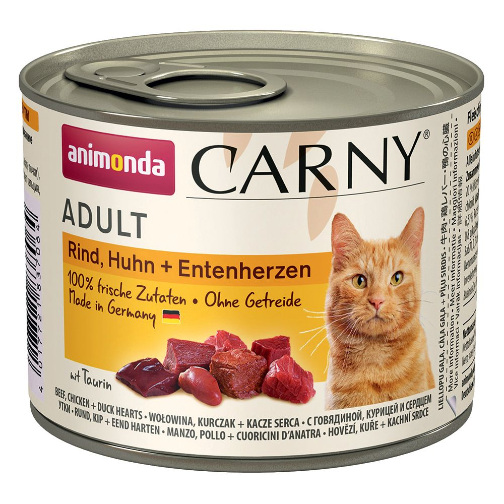 Beef Turkey & Shrimp Hearts Animonda Carny wet cat food
