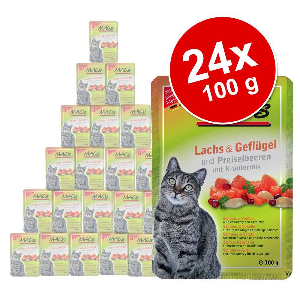 Sparpaket MAC´s Cat Pouch 24 x 100 g - Hähnchen Pur
