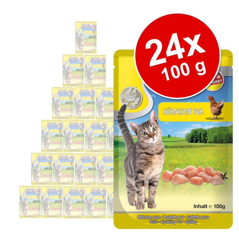 Ekonomipack: MAC's Cat Pouch 24 x 100 g - Kalv & nötkött