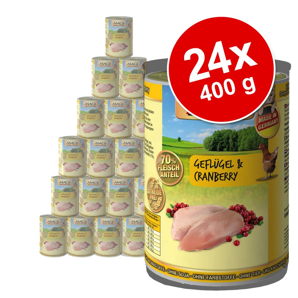 MAC´s Cat 24 x 400 g - Anatra, Tacchino, Pollo