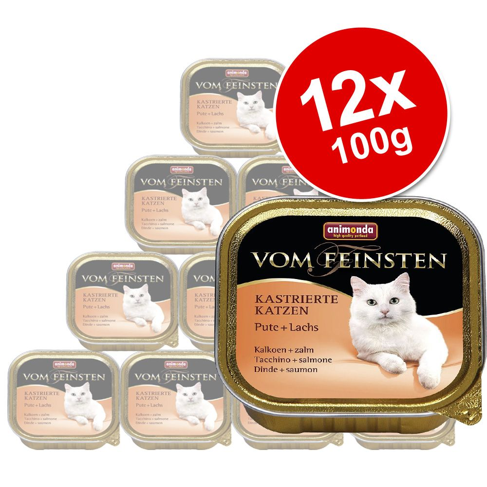 Animonda vom Feinsten Neutered Cats Saver Pack 12 x 100g - Turkey & Trout