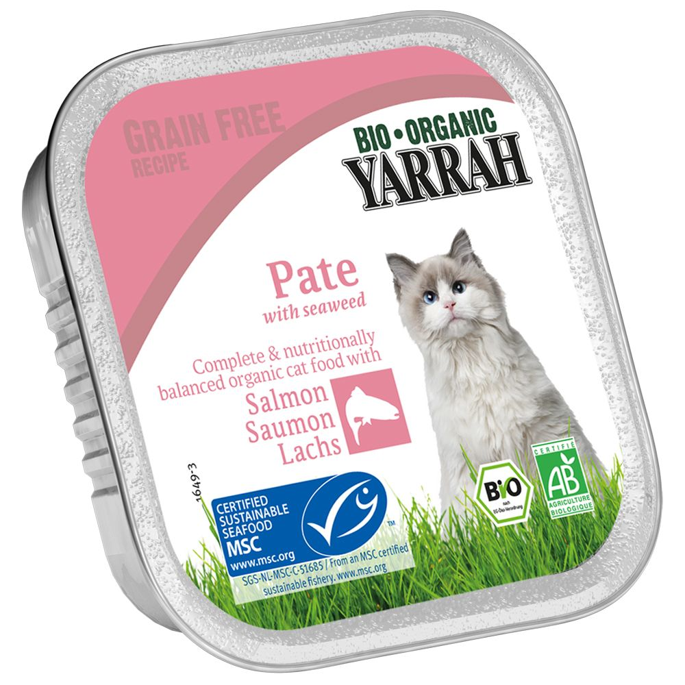 Yarrah Organic Wellness Paté 6 x 100 g - Kyckling & kalkon med Aloe vera