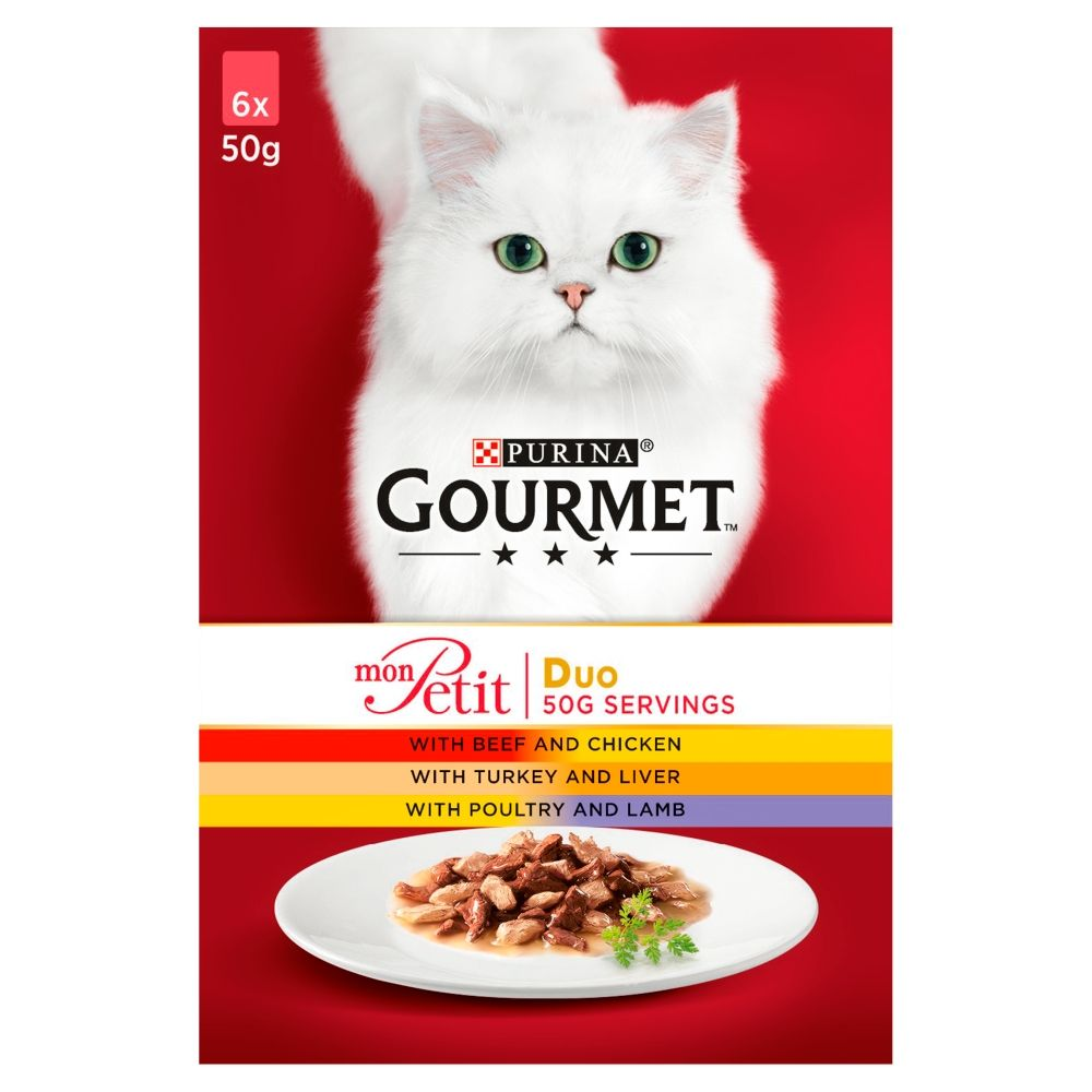 Duo Meat Saver Pack Gourmet Mon Petit Wet Cat Food