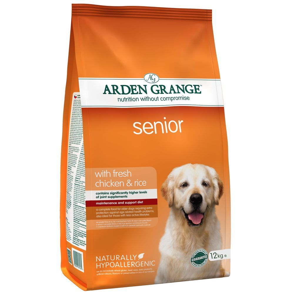 12kg Senior Chicken & Rice Arden Grange Dry Dog Food