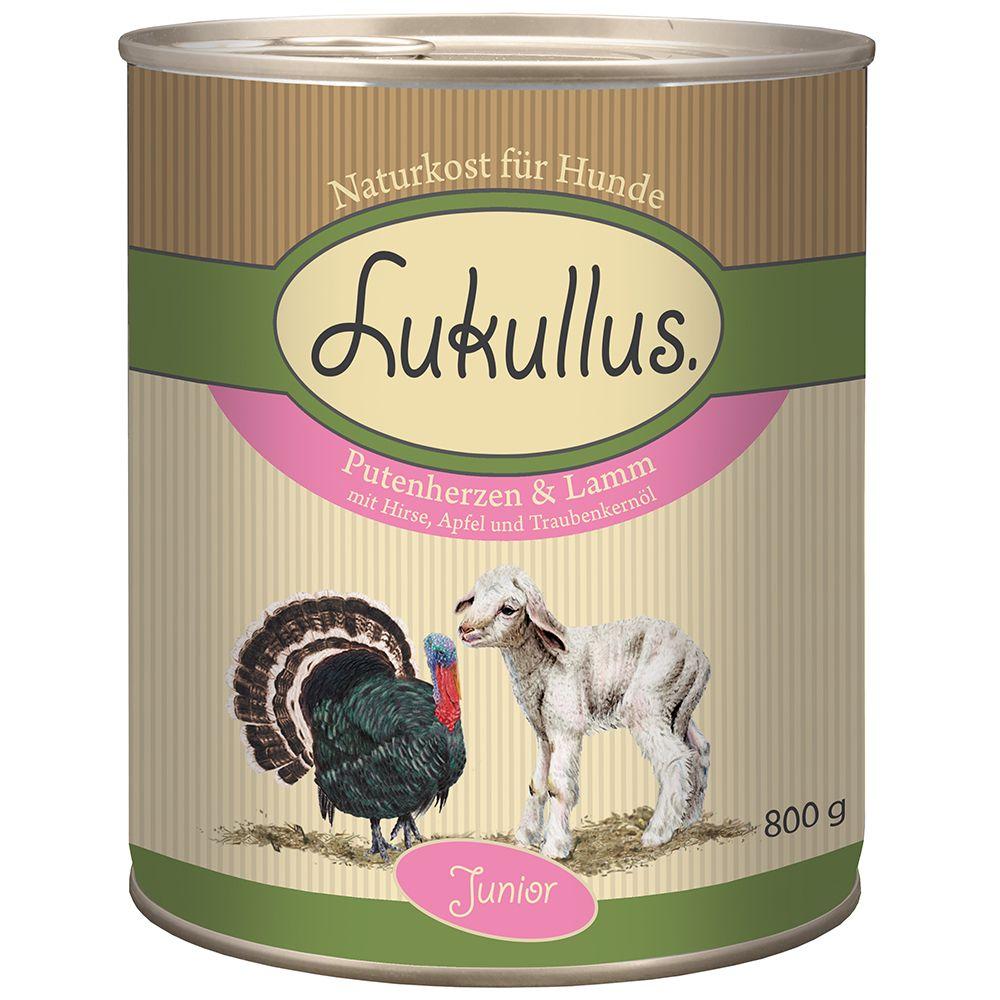 Lukullus Junior, serca indycze z jagnięciną - 6 x 400 g