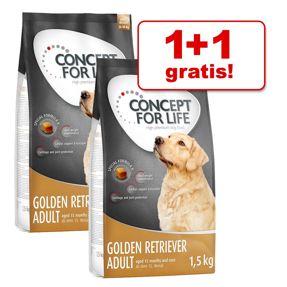 1+1 gratis! Concept for Life karma sucha dla psa, 2 x 1,5 kg - Large Sensitive