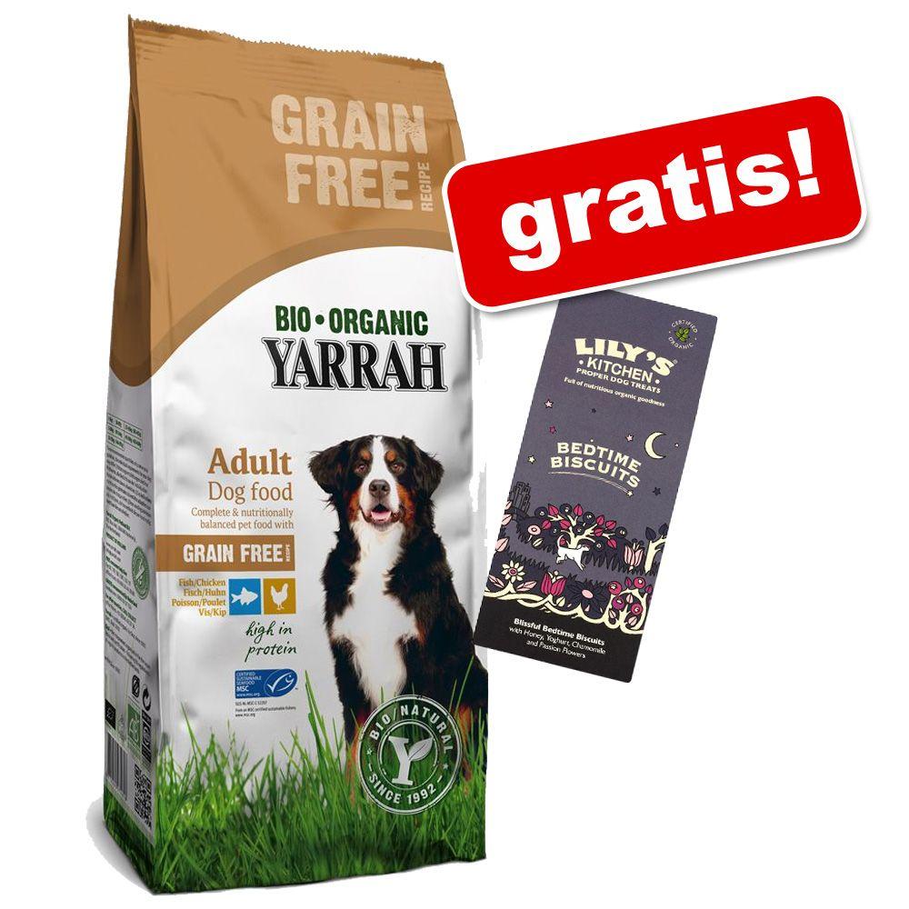 Großgebinde Yarrah Bio + 100 g Lily´s Kitchen Bedtime Biscuits gratis! - Vegetarisches/ Veganes Hundefutter (10 kg)
