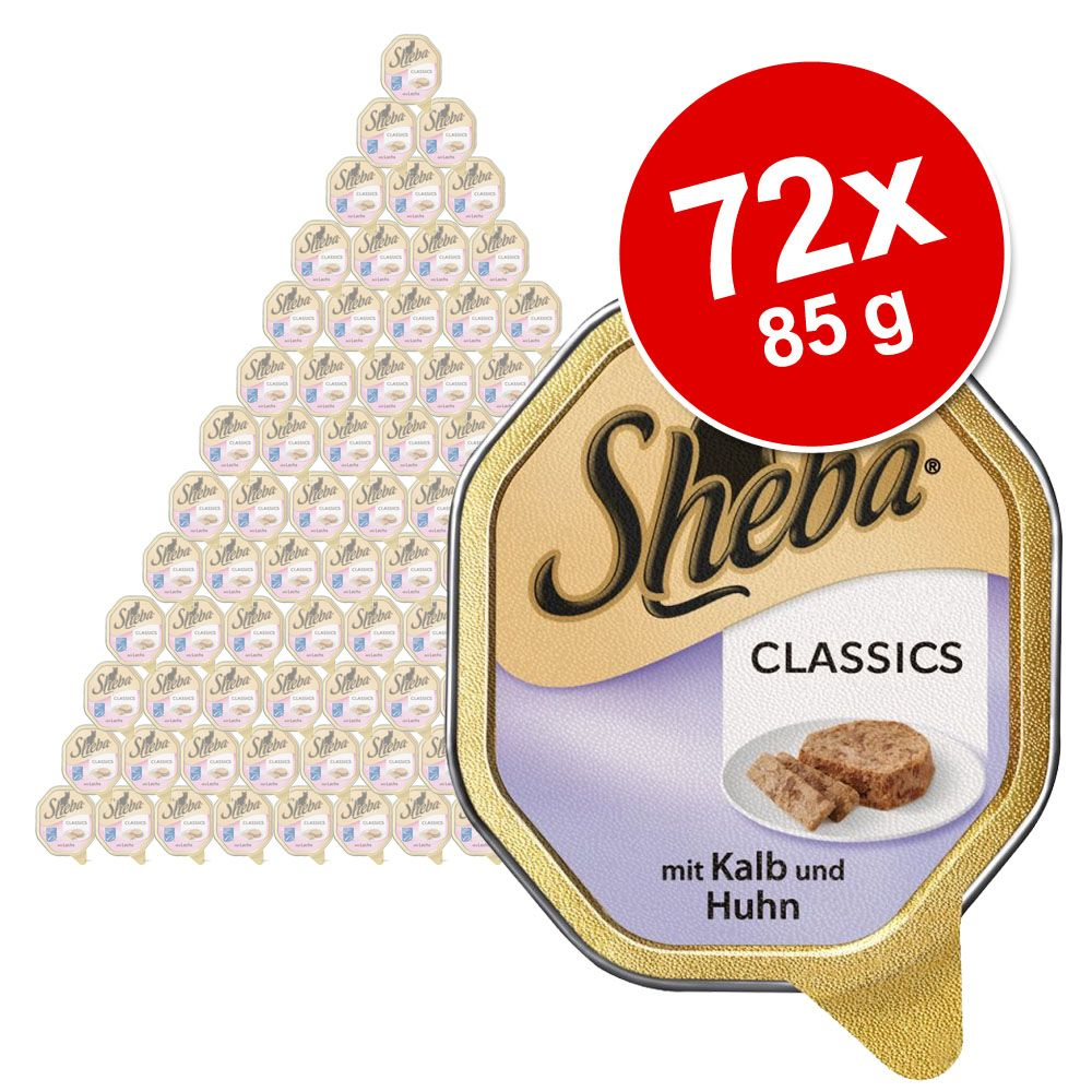 Megapakiet Sheba, 72 x 85 g - Selection in Sauce, pularda