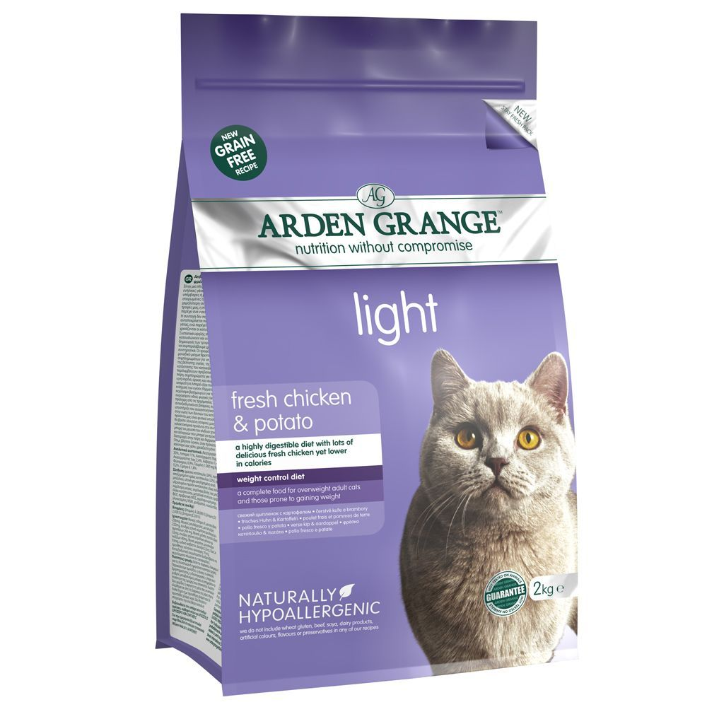 Arden Grange Light Chicken & Potato - Adult Cat - Economy Pack: 2 x 4kg