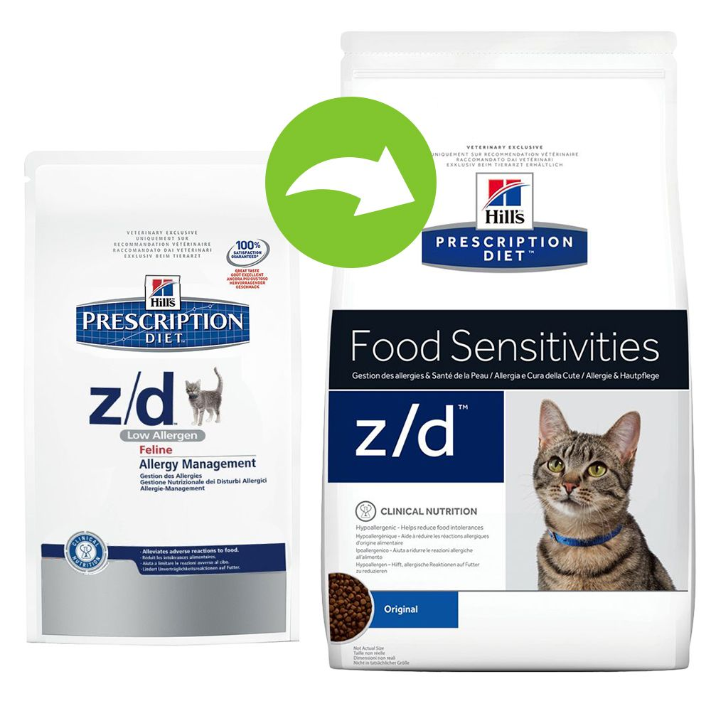 Hill's Prescription Diet Feline - z/d Food Sensitivities - Economy Pack: 2 x 2kg