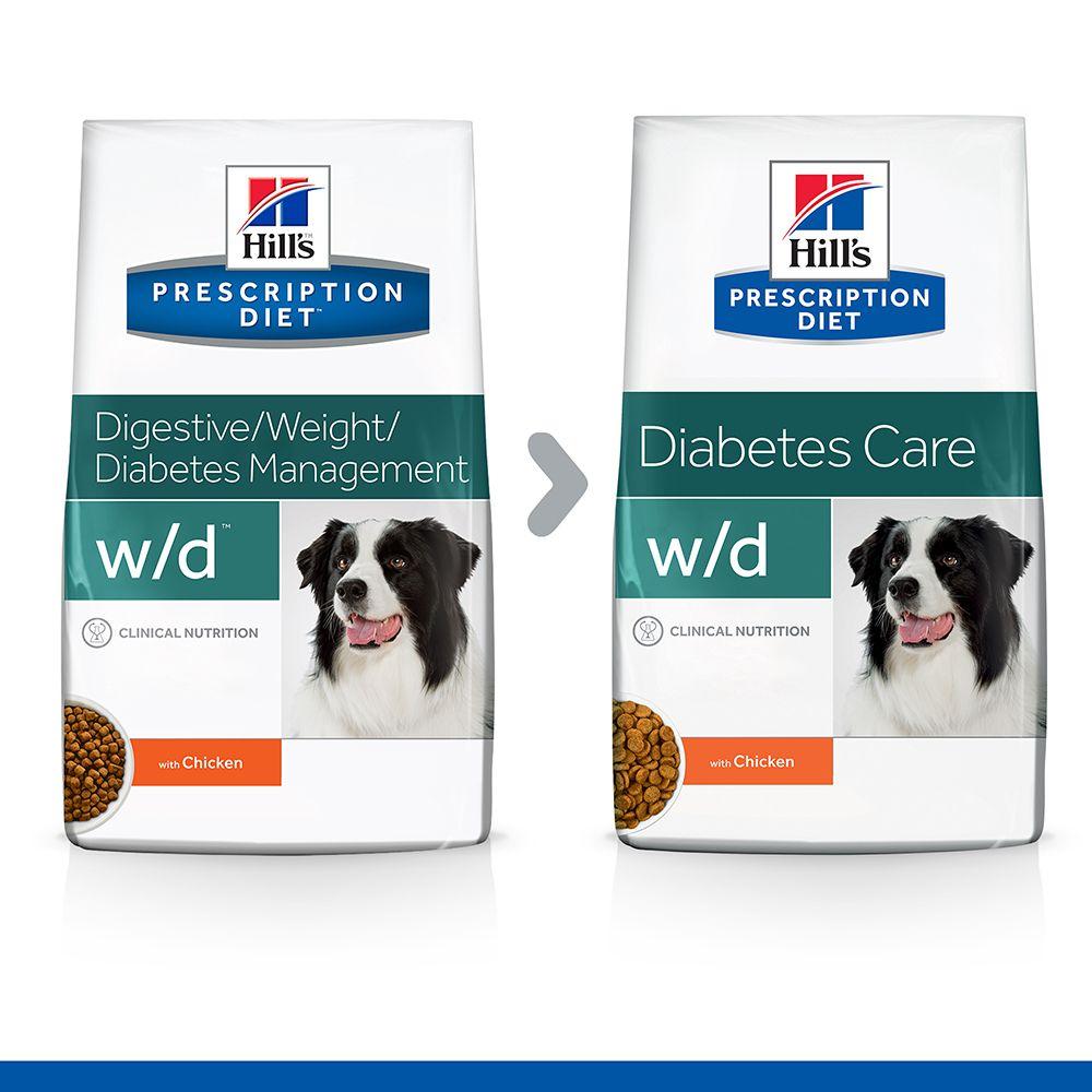Hill's Prescription Diet w/d Diabetes Care Hundefutter mit Huhn - 12 kg