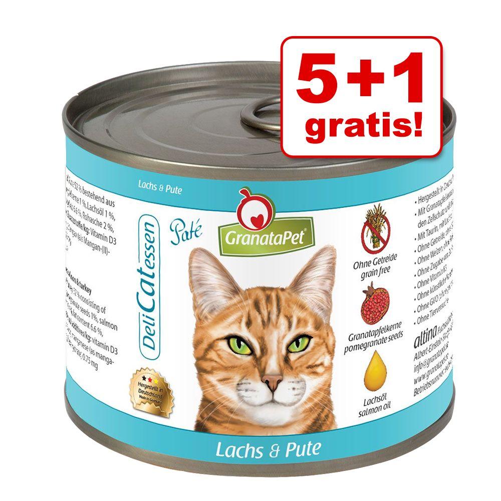 5 + 1 gratis! 6 x 200 g GranataPet DeliCatessen...