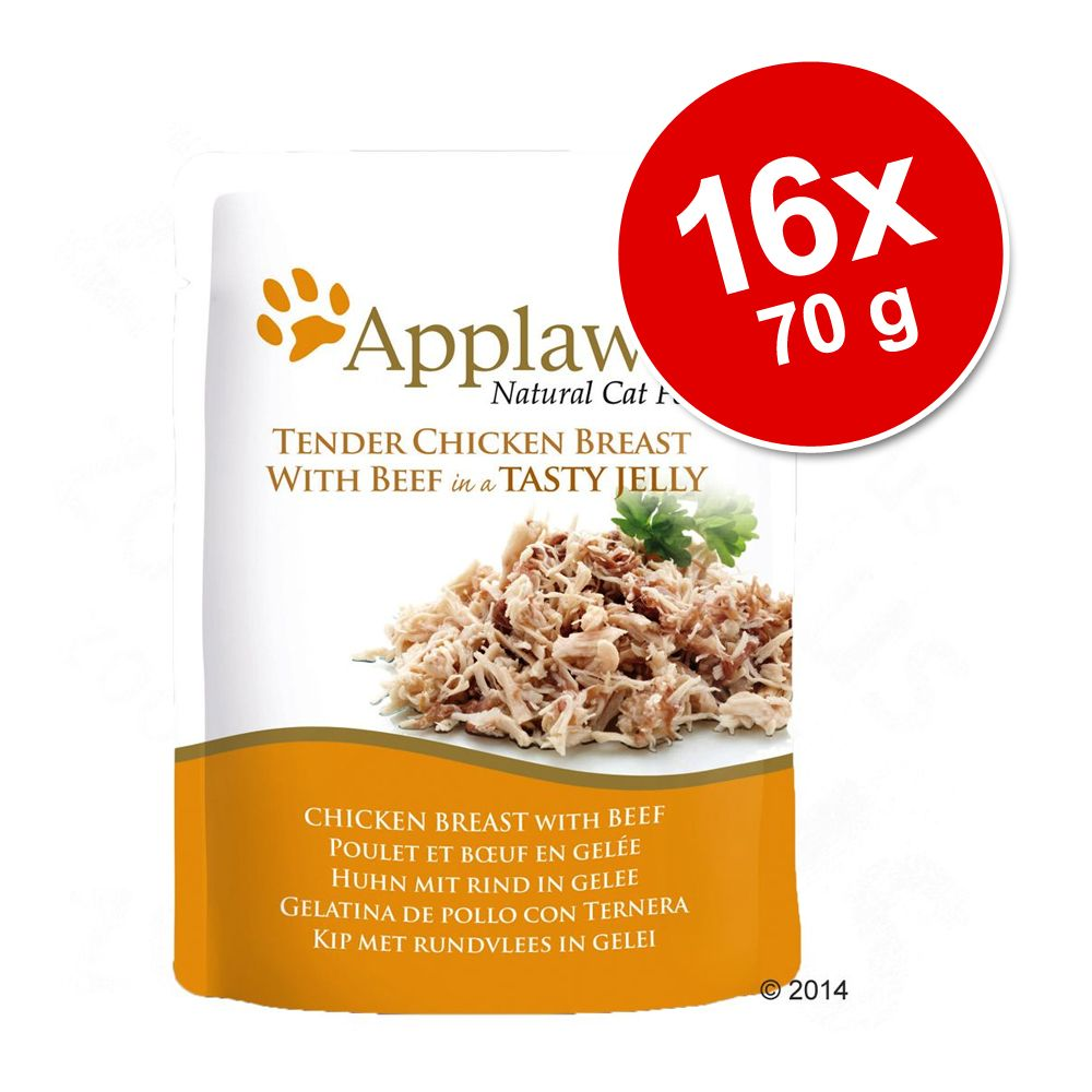 Applaws Buste in Jelly 16 x 70 g - Tonno con sgombro