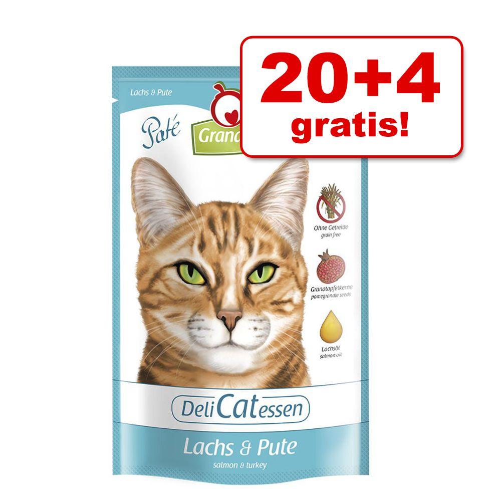20 + 4 gratis! 24 x 85 g GranataPet DeliCatesse...