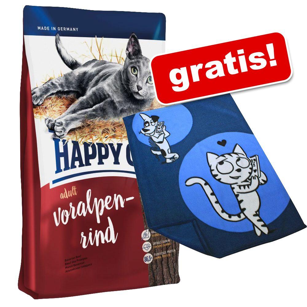4 kg Happy Cat + Kuscheldecke Happy Cat gratis! - Grainfree Rentier