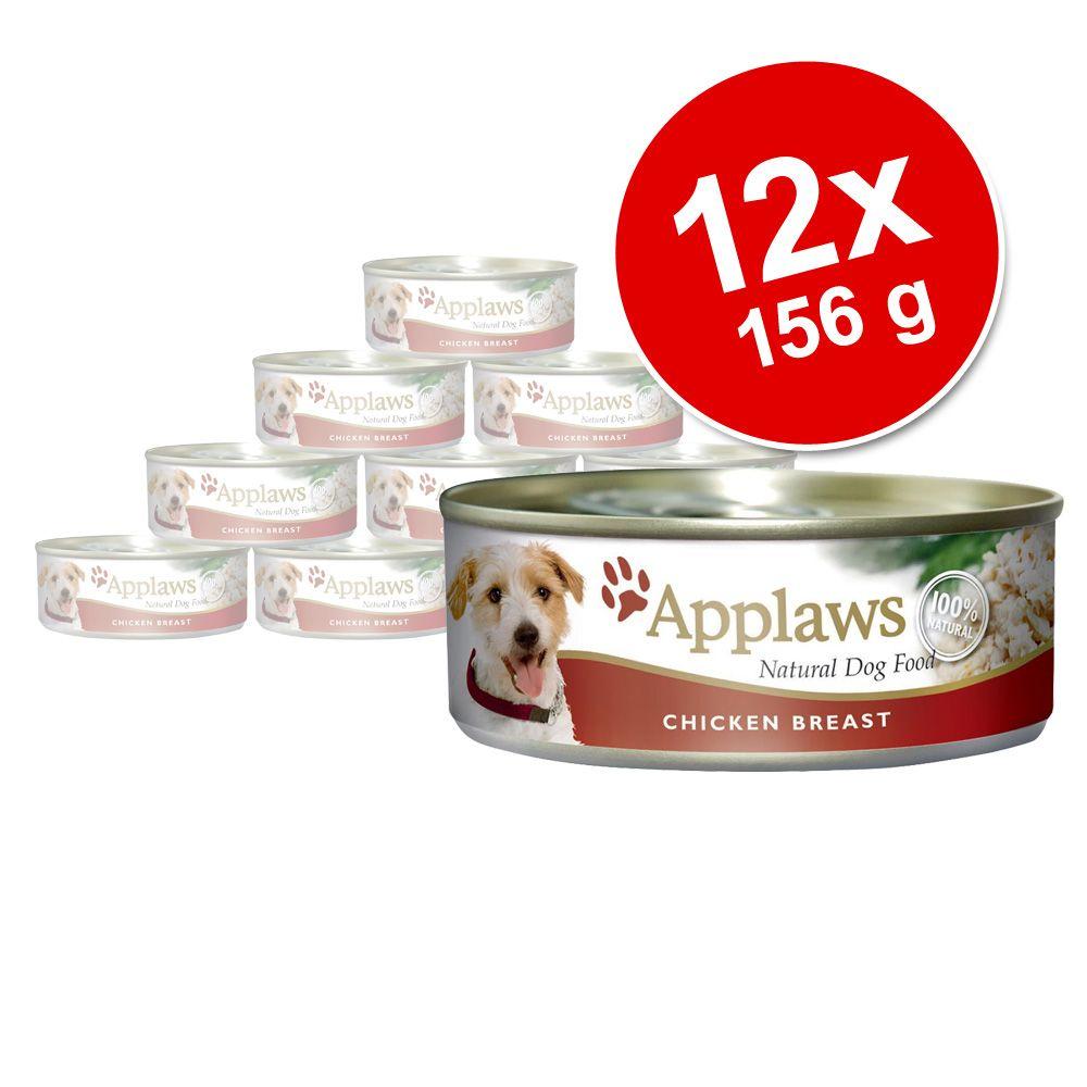 Korzystny pakiet Applaws w bulionie, 12 x 156 g - Kurczak z łososiem i warzywami