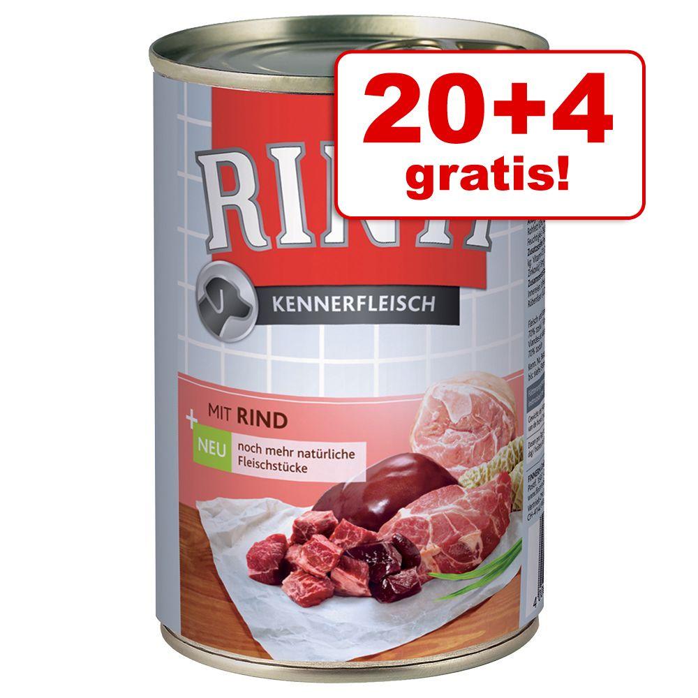 20 + 4 gratis! Rinti Pur, 24 x 400 g - Renifer