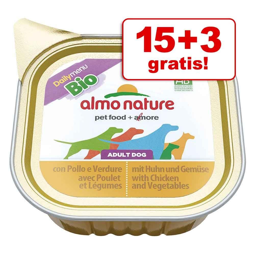 15 + 3 gratis! Almo Nature Bio Paté, 18 x 100 g - Cielęcina z warzywami