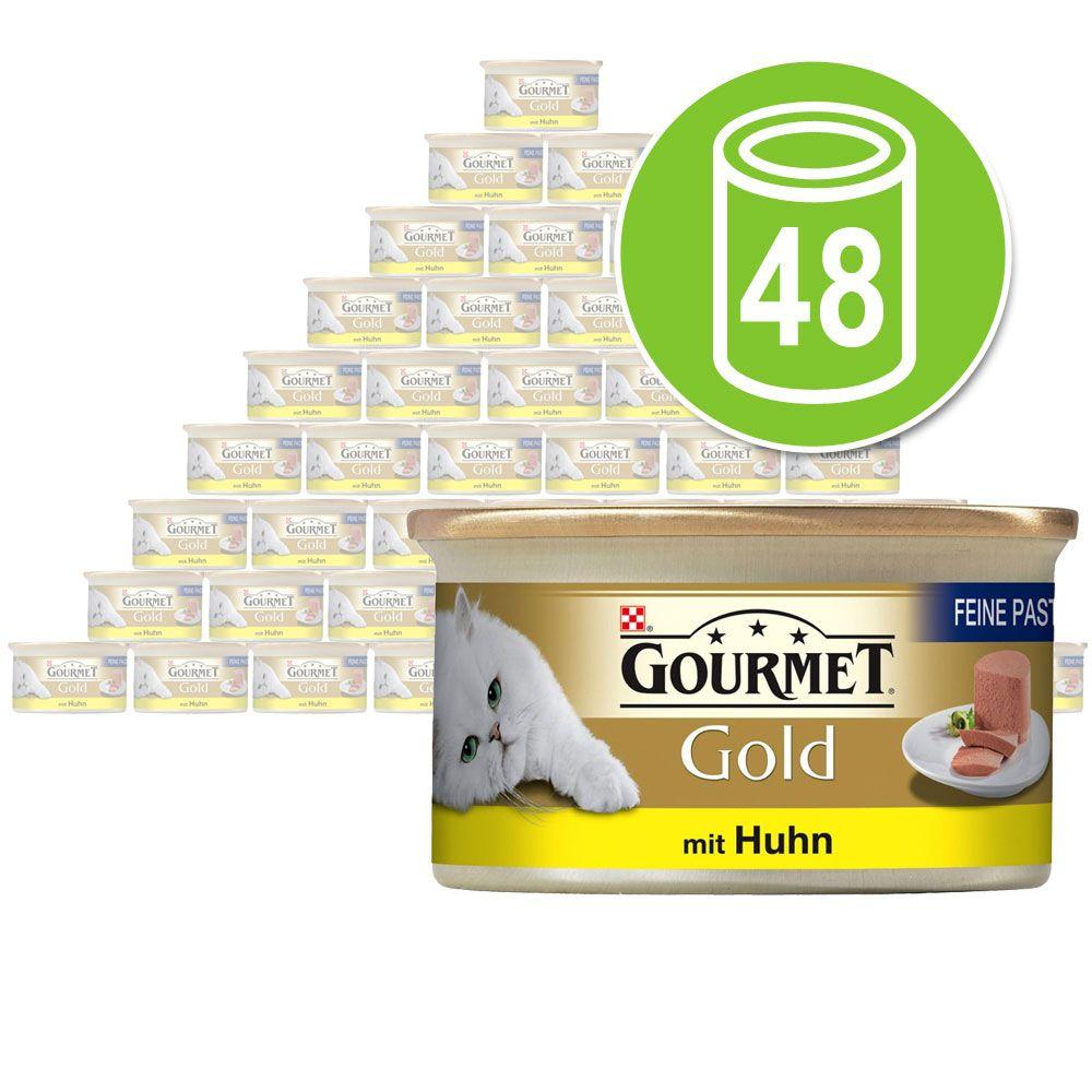 Lot de boîtes Gourmet Gold Les Mousselines 48 x 85 g - dinde