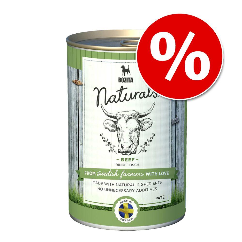 Sonderpreis! 6 x 625 g Bozita Naturals Pate - Rind