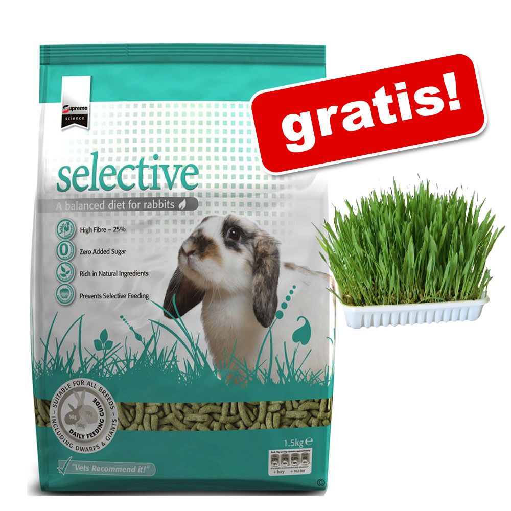 2 x 1,5 kg Supreme Science Selective Rabbit + Trawa dla gryzoni gratis! - 2 x 1,5 kg