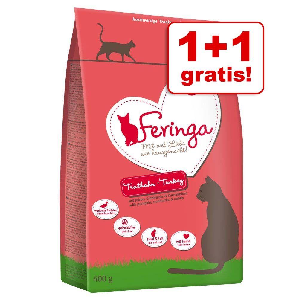 1 + 1 gratis! Feringa karma dla kota, 2 x 400 g - Jagnięcina i kurczak