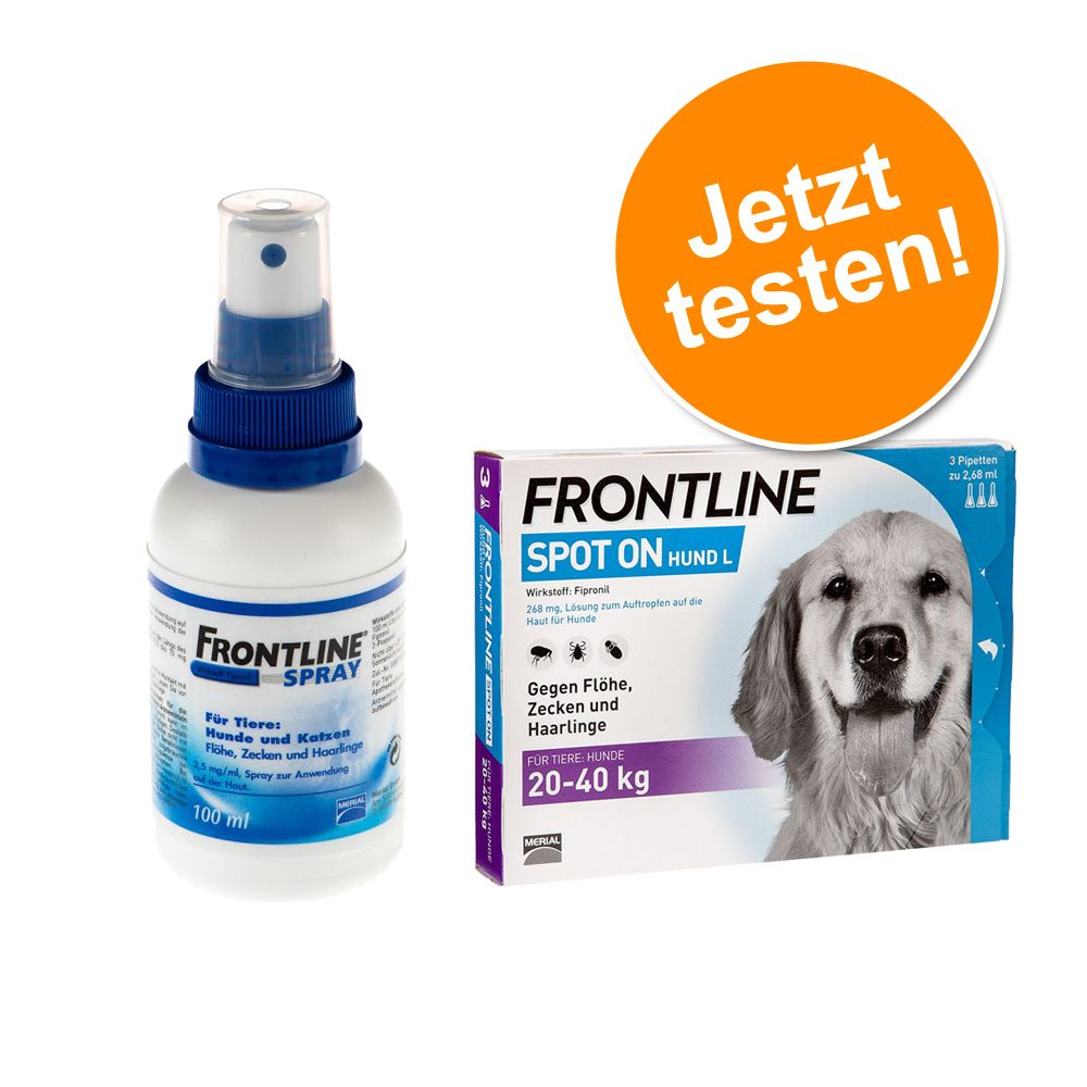 Frontline® Anti-Zecken Sparpaket: Spray + Spot ...