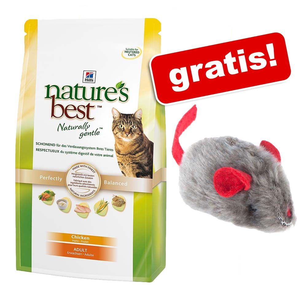 2 kg Hill's Nature's Best Feline Adult + Myszka z kocimiętką i dźwiękiem gratis! - Tuńczyk