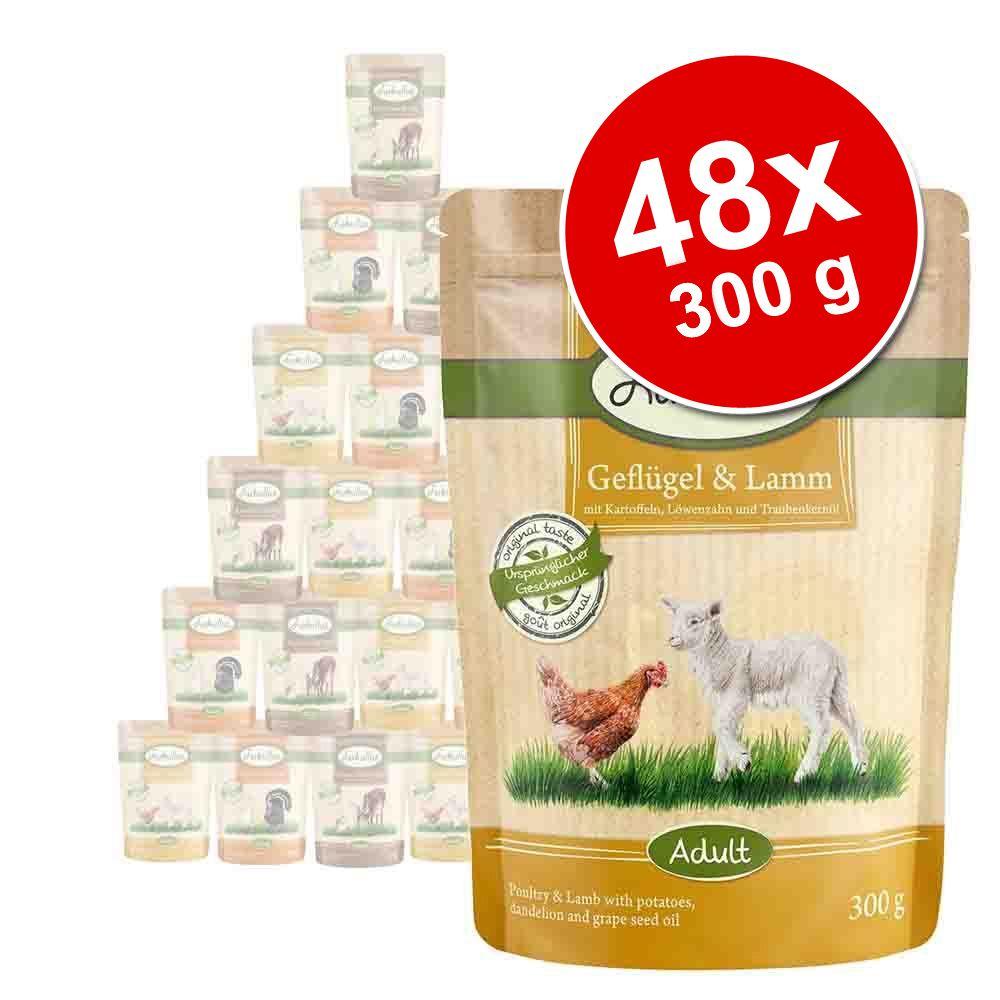 Megapakiet mieszany Lukullus Natural w saszetkach, 48 x 300 g - Pakiet II - Mięsne smaki