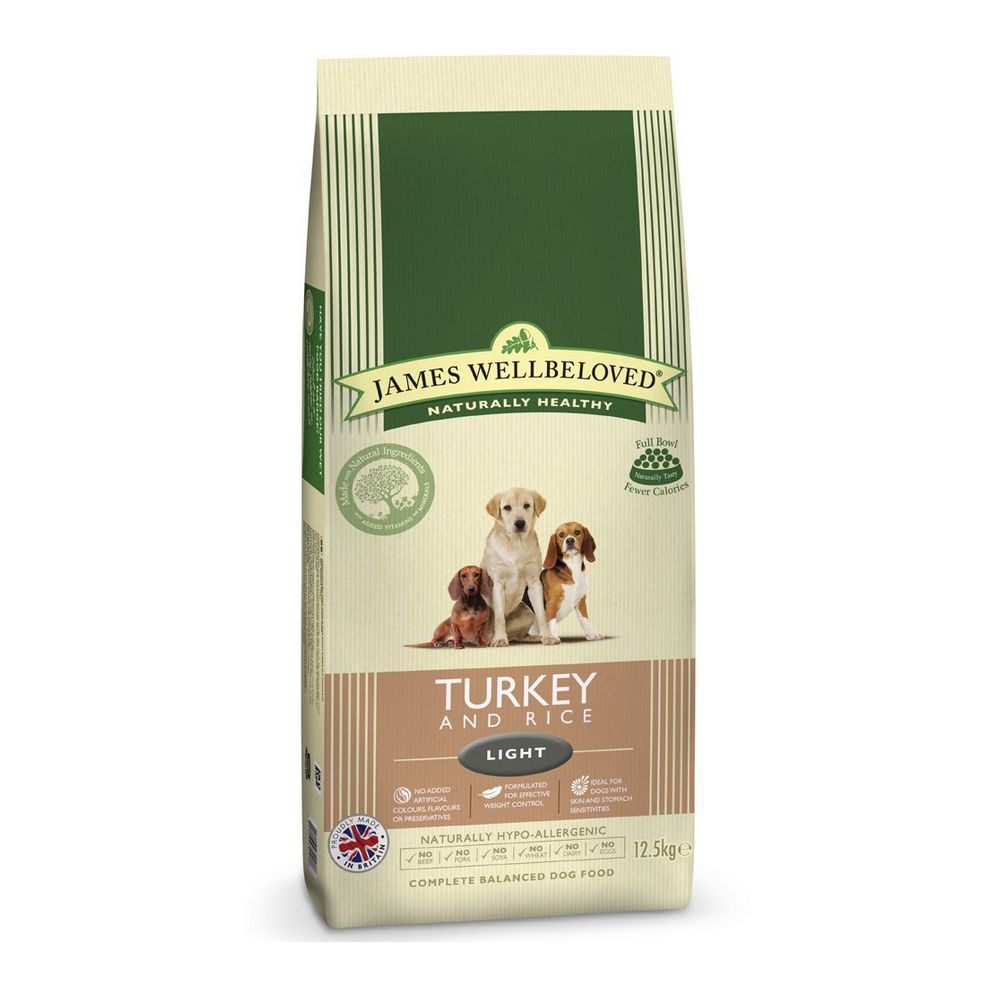 James Wellbeloved Light - Turkey & Rice - 12.5kg