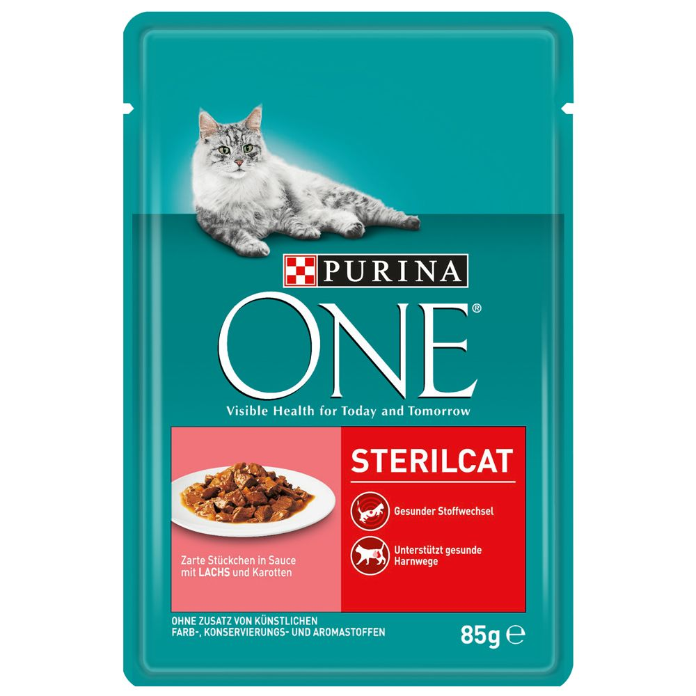 Purina One Sterilised - 12 x 85 g Kalkon & gröna bönor