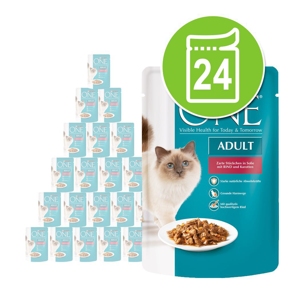 Sparpaket Purina One Adult 24 x 85 g - Sterilis...