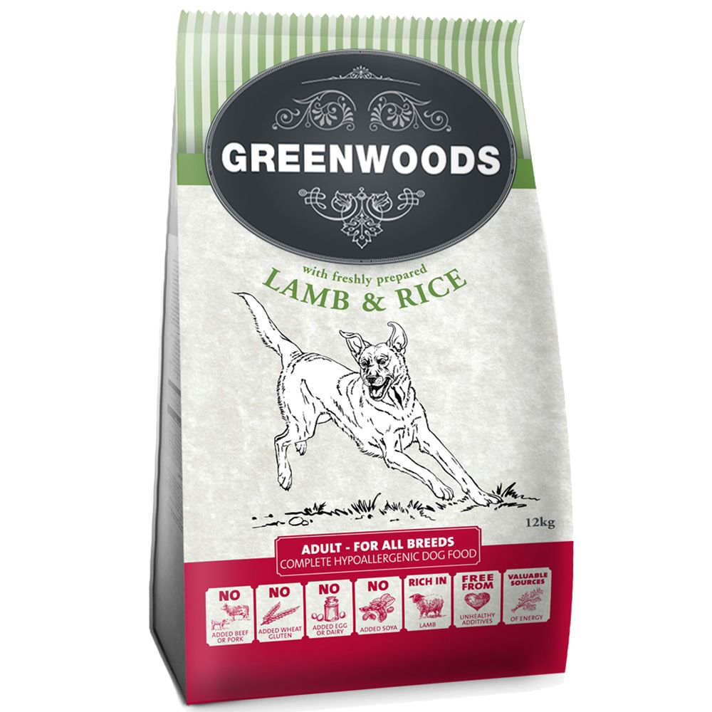 Greenwoods Adult – Lamb & Rice - 12kg