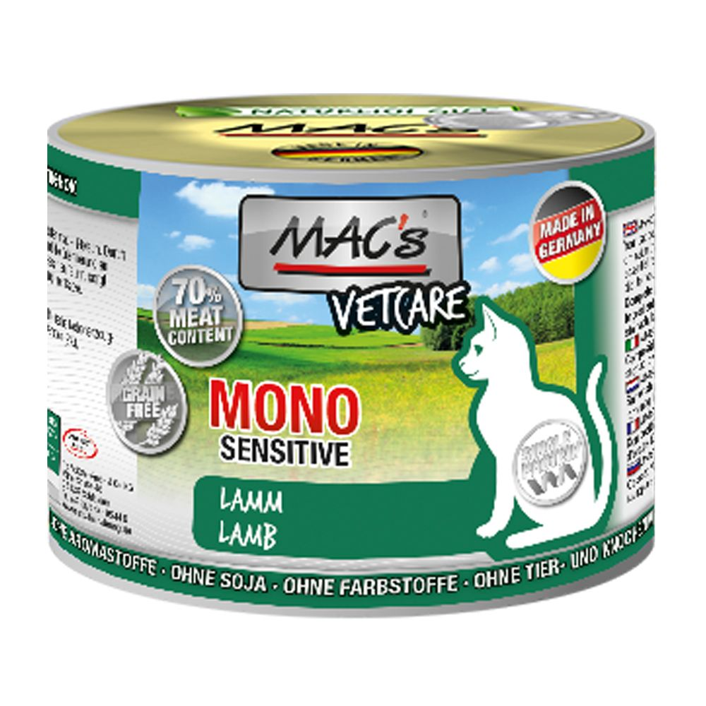 Mono Sensitive Lamb MAC's Wet Cat Food