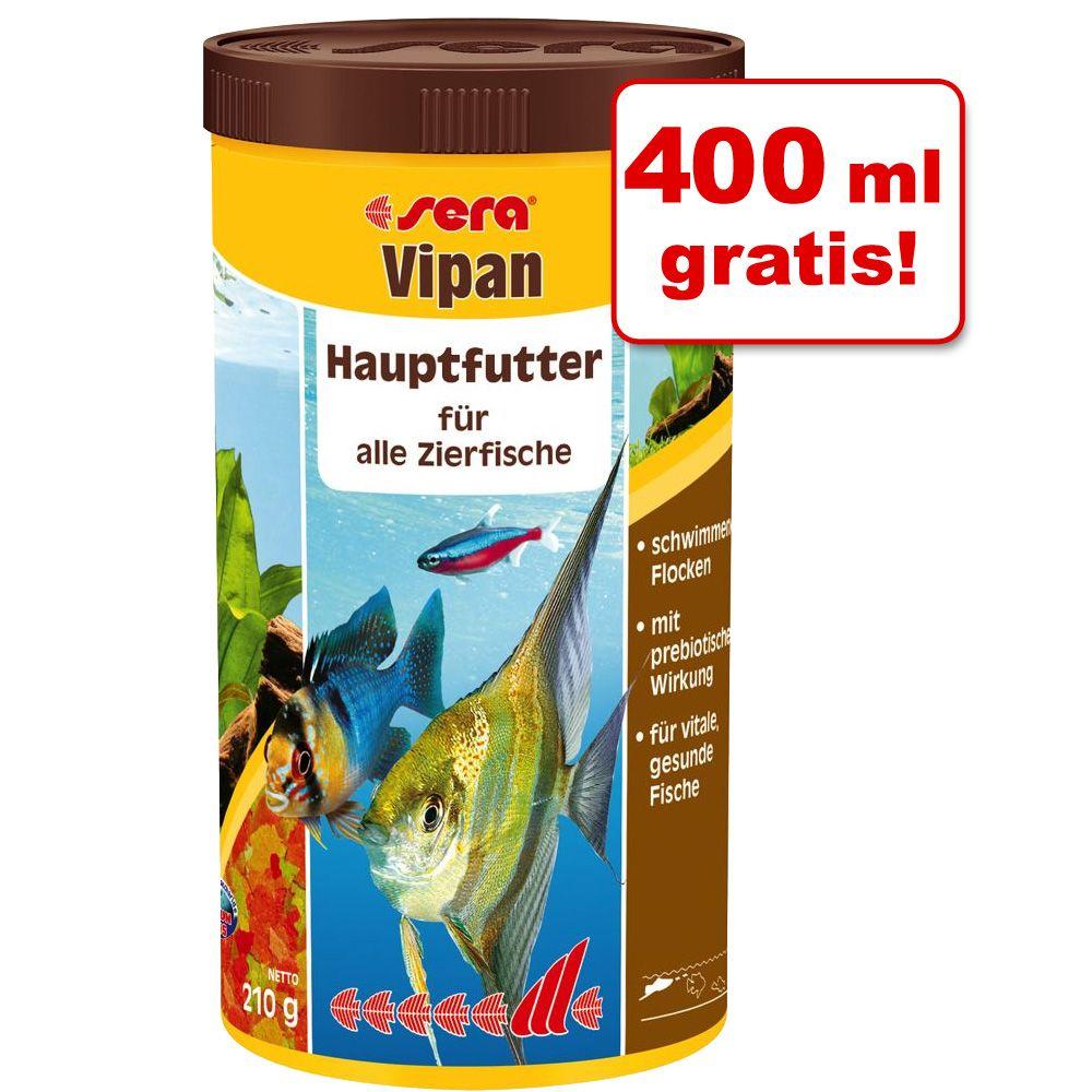 600 + 400 ml gratis! Sera Vipan Pokarm w płatkach, 1000 ml - 1000 ml