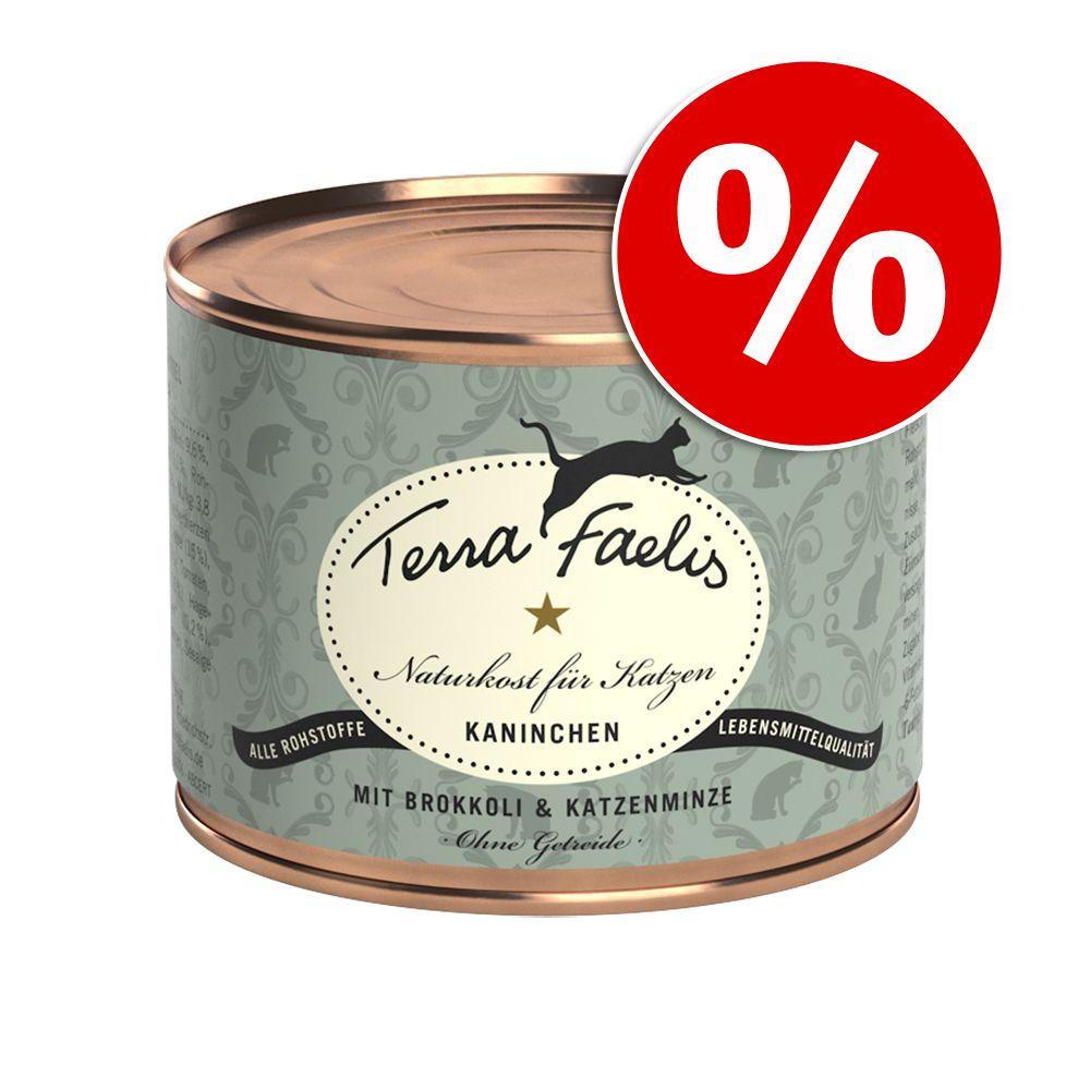 12 x 200 g Terra Faelis Mięsne Menu w super cenie! - Królik z brokułami i kocimiętką
