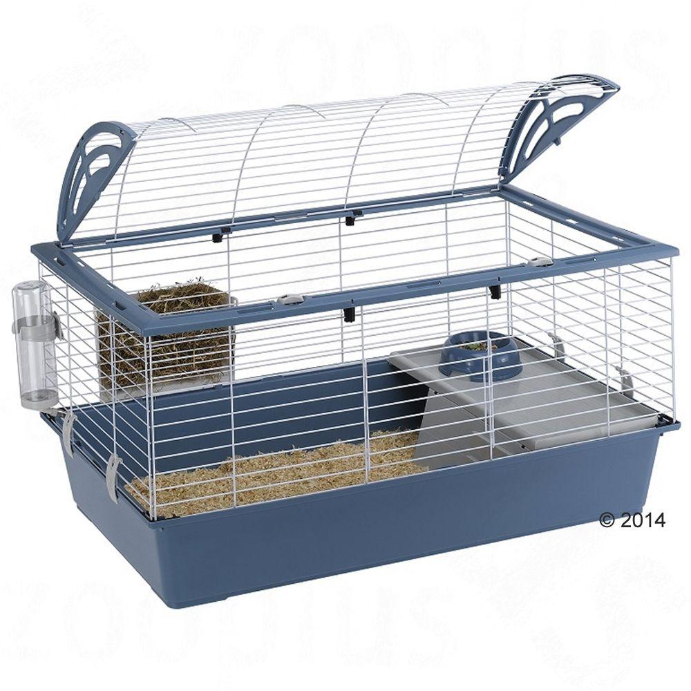 Casita 100 klatka dla małych zwierząt - Niebieska, Dł. x szer. x wys.: 96 x 57 x 56 cm