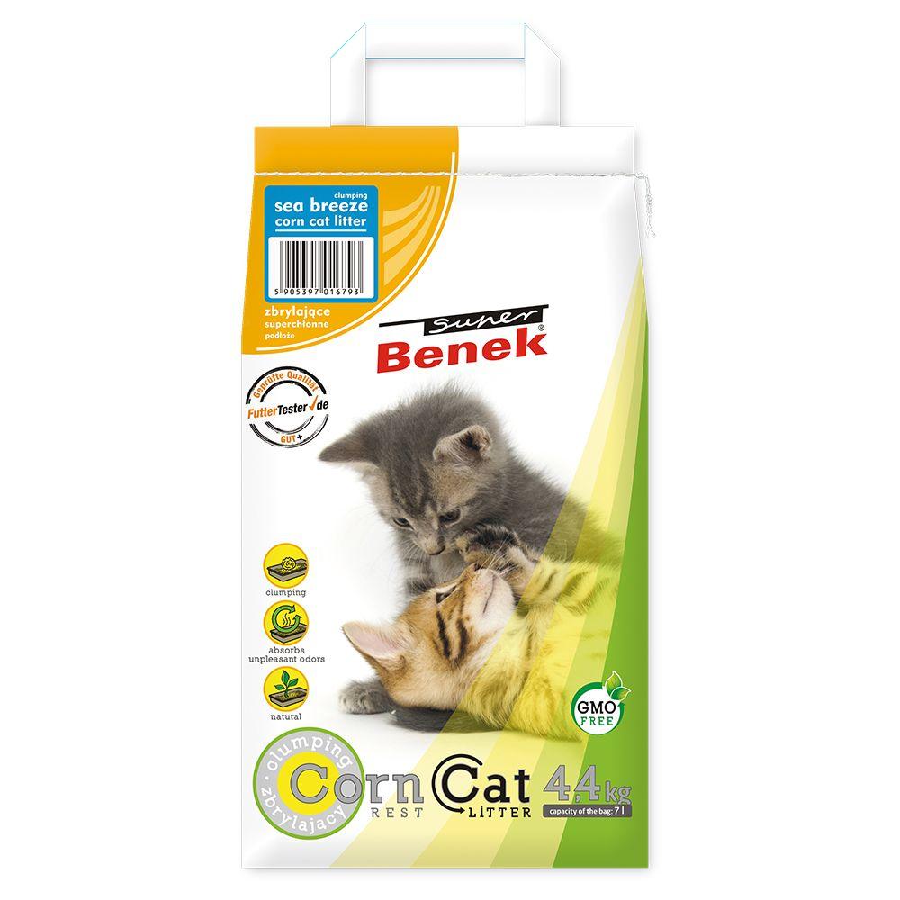 7L Corn Cat fraîcheur marine Benek - Litière pour Chat