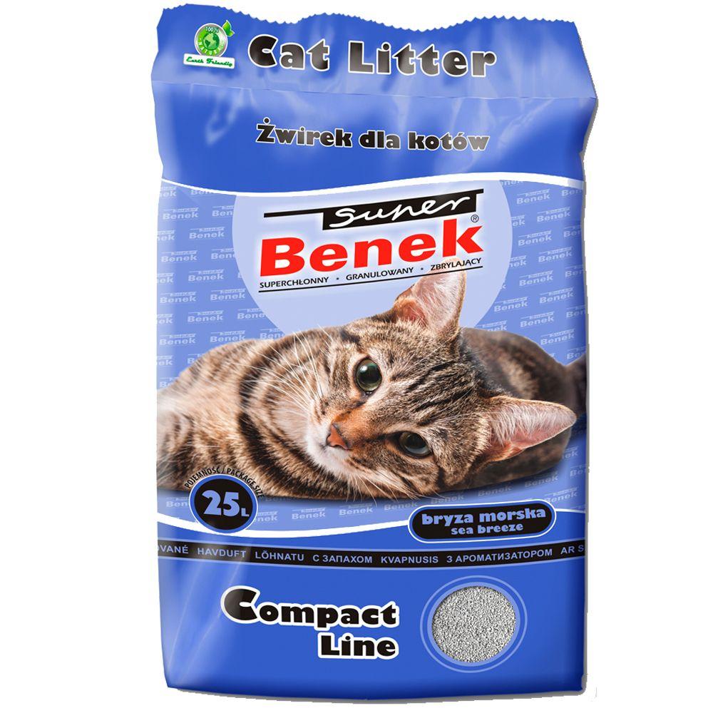 Super Benek Compact Ocean Breeze kattsand - 25 l (ca 20 kg)