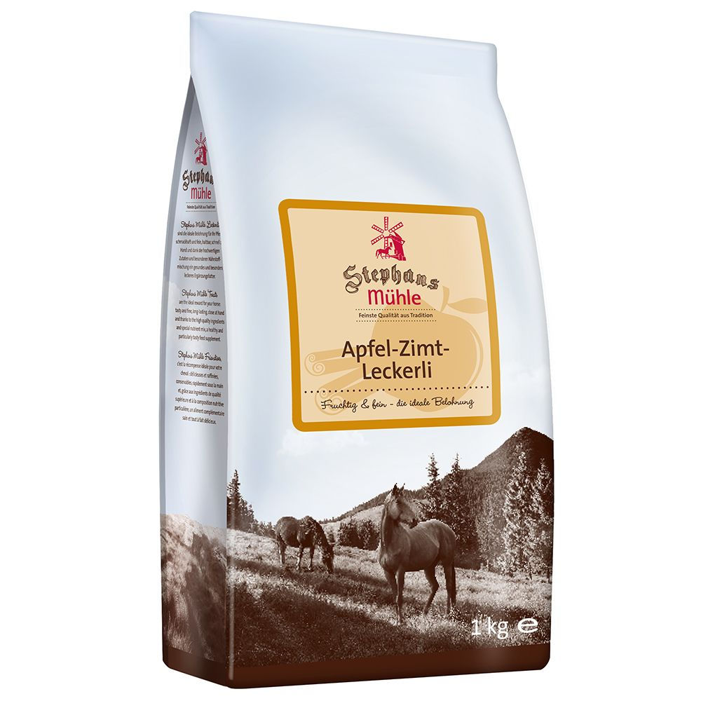 Stephans Mühle Horse Treats - Apple Cinnamon - Saver Pack: 3 x 1kg