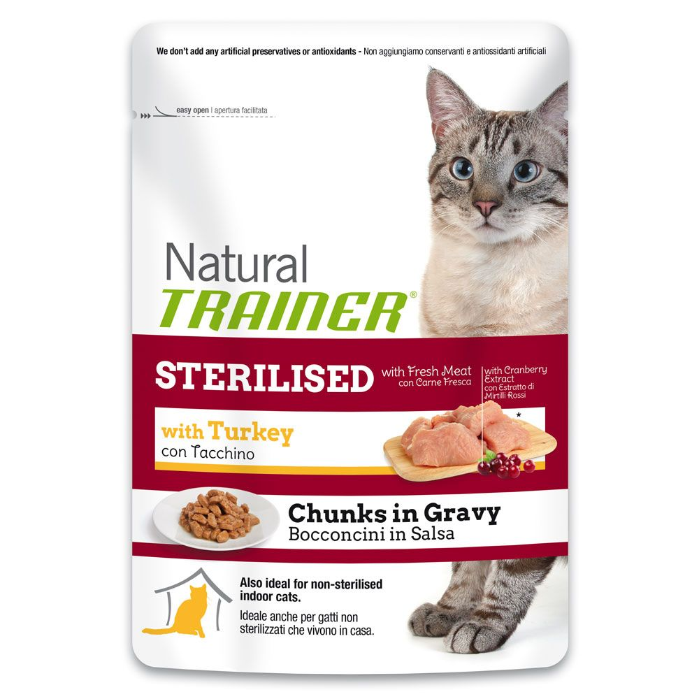 Image of Trainer Natural Sterilised con Tacchino - % 24 x 85 g