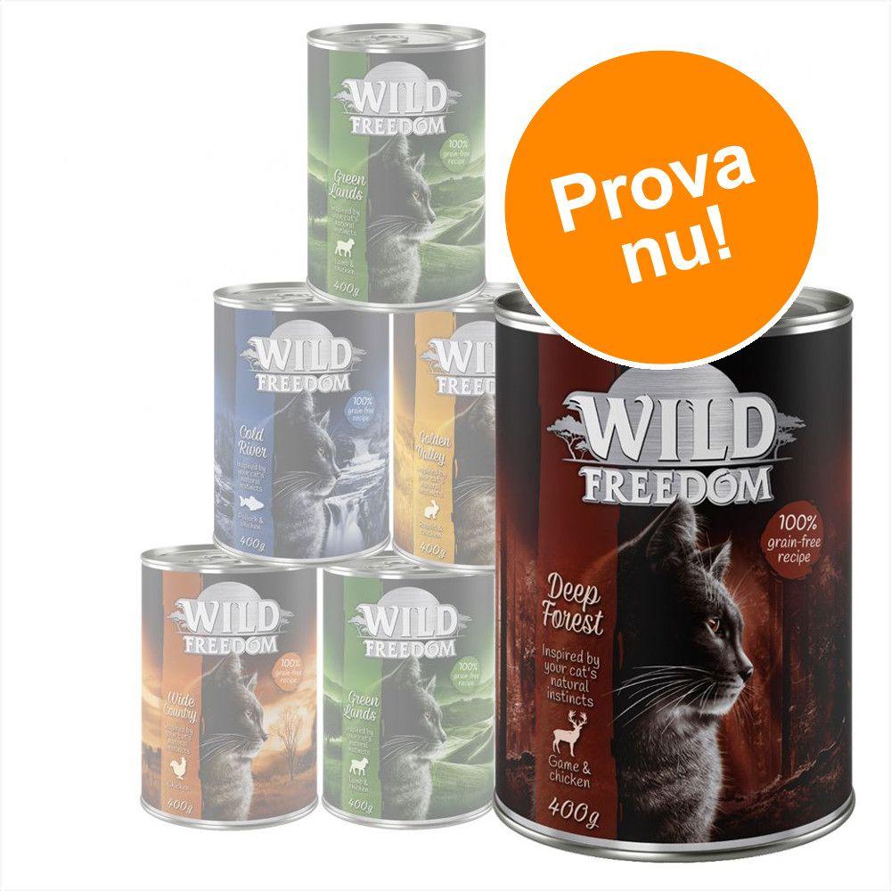 Blandat provpack: Wild Freedom Adult - 6 x 400 g
